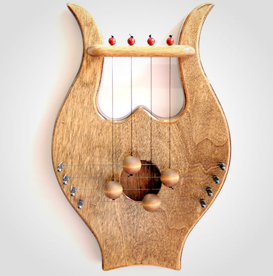 King davids door harp available in 4 shades chestnut rosewood king davids door harp publicscrutiny Images